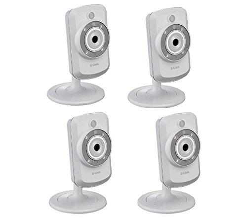 D-Link DCS-942L - Set di 4 telecamere IP WLAN-N, utilizzo diurno e notturno, con mydlink