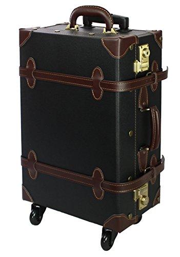 MOIERG Vintage Trolley Luggage suitcase 2tone TSA Camel Large(81-55037-72)