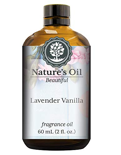 Lavender Vanilla Fragrance Oil (60ml) For Perfume, Diffusers, Soap Making, Candles, Lotion, Home Scents, Linen Spray, Bath Bombs, Slime