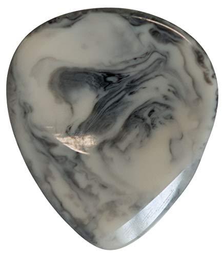 Stanford - Púa para guitarra de resina con efecto piedra, color blanco...