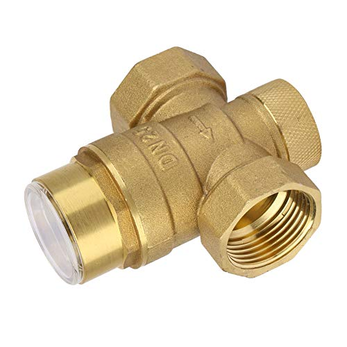 Regolatore regolabile a 1 pollici del riduttore di pressione dell'acqua della valvola d'ottone con il metro del calibro