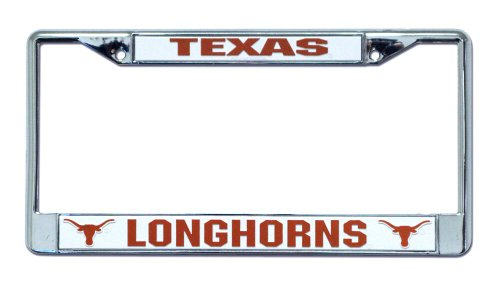 Rico Industries FC260110 NCAA Texas Longhorns Chrome License Plate Frame