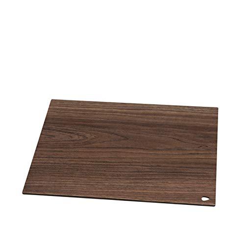 Citron DNA Planche à découper/Plateau Cut + Serve Square L 29 x 35 cm Compact stratifié Walnut