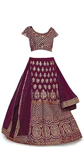 New Fashion Adda Girl's Satin Semi stitched Lehenga Choli (FA_K_PURPLE_BABY(10-15)_Purple_Free Size)