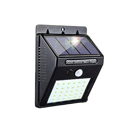 30 LED Solar Lights Outdoor,3 Optional Modes Wireless Waterproof Motion Sensor Outdoor Security Lights for Front Door, Yard, Garage, Deck