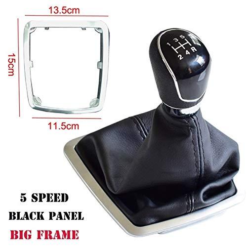 LuckyMAO Schaltknauf ABS Plastik gepasst for Ford Focus 2 MK2 FL C-MAX 2006-2011 MK3 MK4 MK7 Galaxy MT Auto-Gangschaltung-Stick-Hebel-Drehknopf Mit Gaitor Boot-Abdeckung Auto-Shift-Collar