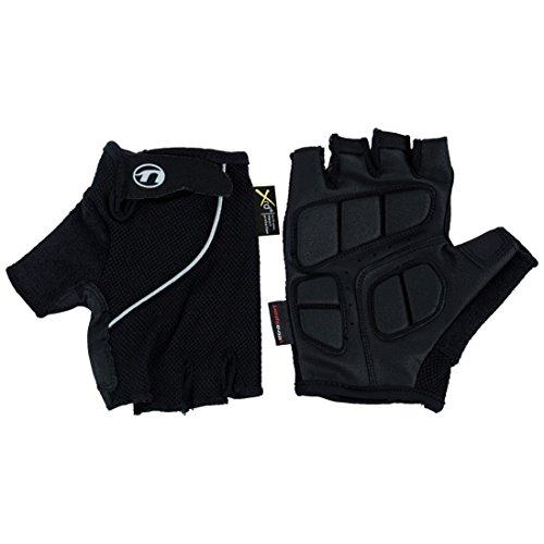 Ultrasport Basic Heren halfvinger handschoen Laslo voor fietsers en mountainbikers, fietshandschoenen, rolstoelhandschoenen, ademend en in de breedte verstelbaar, uittrekhulp, trilbekleding