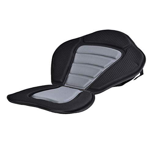 Jili Online High Back Kayak Seat Sit-on-top Kayak SUPs Seat Cushion Backrest Universal Boat Cushioned Pad with Detachable Back Backpack Bag Pouch Black - No Pocket -  3a713ef6f6894665dda1aeeb74f2743b