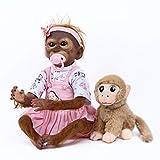 ZIYIUI Mono Reborn 21 Pulgadas 52cm Bebé Reborn Mono Hecho a Mano Pintura Detallada Artística Muñecas Recién Nacida Muñeca Mejor Regalo para niños