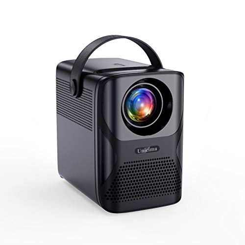Video Projector, UNICIMA Native 1080P Portable Projector 7000L Full HD Video Projector 1920 x 1080, ±40° 4D Keystone Correction, Movie Projector, Compatible with TV Stick/HDMI/USB/TV Box/Xbox/PS4/PS5