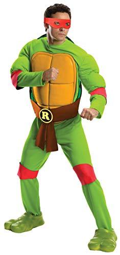 Rubie's Men's Teenage Mutant Ninja Turtles Deluxe Adult Muscle Chest Raphael, Green, X-Large