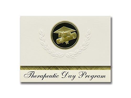 Signature Announcements Therapeutisches Tagesprogramm (Trumbull, CT), Abschluss-Ankündigung, Presidential Style, Elite Paket mit 25 Kappen und Diplom-Siegel.