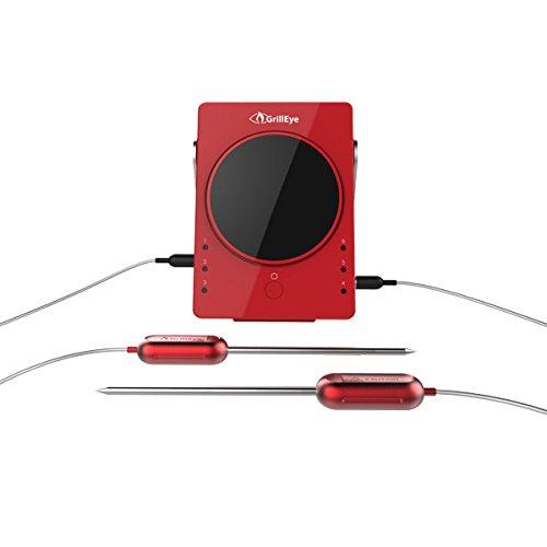 GrillEye Smartes Bluetooth Grillthermometer inkl. 4 Fühler