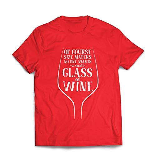 lepni.me Mannen T-shirt Niemand wil een klein glas wijn alcohol zeggen drinken