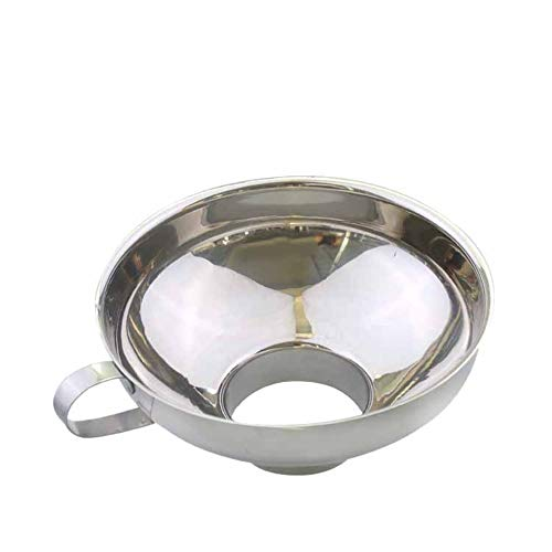 Einmachtrichter aus Edelstahl mit breiter Öffnung, für Salat, Dressing, Öl, Trichter
