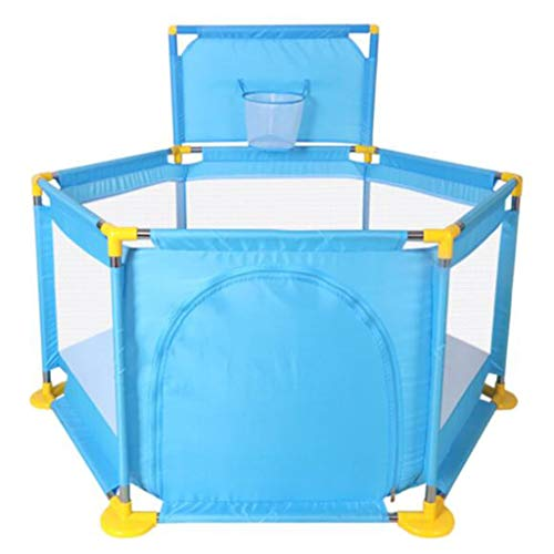 Kerstmis - 6 hekken, Children's omheining, All-Star Baby leuning peuter guard, for binnen en buiten game center Ball Pool set (zonder bal) (Color : Blue)