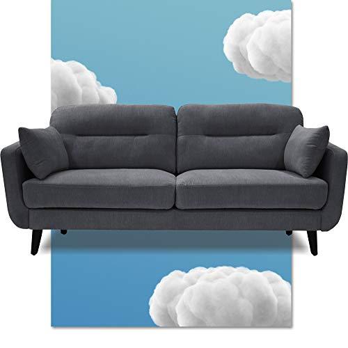 """Serta Sierra Living Room Sofas Modern Design Microfiber Upholstered Couch Ideal for Smaller Spaces, 73"""", Slate Gray"""