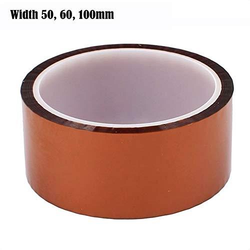 50 60 100 Mm Polyimid-Klebeband Hochtemperatur-wärmebeständiges Klebeband Elektrische Isolierung Polyimid-Folie 30 M 220 C Klebeband Strong (Width : 100mm)