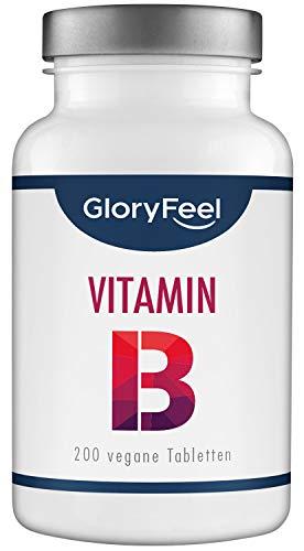 Vitamin B Komplex Hochdosiert - Vergleichssieger 2020* - Alle 8 B-Vitamine B1 B2 B3 B5 B6 B7 (Biotin) B9 (Folsäure) B12-200 vegane Tabletten - Laborgeprüft ohne Zusätze hergestellt in Deutschland