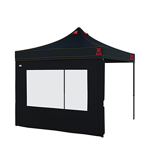 paramondo Grillpavillon Grillzelt Premium Plus, 3 x 3 m schwarz inkl. 1x Fensterwand, schwarz
