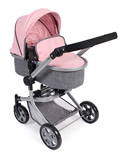 Bayer Chic 2000 595 15 Kombi-Puppenwagen Mika, Melange rosa