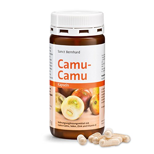 Sanct Bernhard Camu-Camu-Kapseln mit natürlichem Vitamin C, Vitamin D, Zink, Selen 120 Kapseln