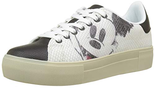 Desigual Damen Shoes_Star Mickey Sneaker, Weiß (Blanco 1000), 37 EU