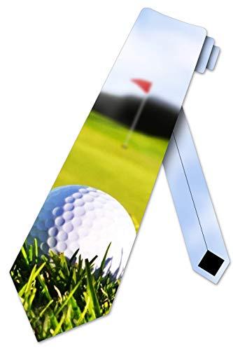 LREFON Golf Ties Corbata deportiva para hombre Putting Green Tie