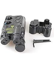 Caja de batería negra Tactical Airsoft AN/PEQ16para Dummy y AEG con ris.