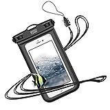 YOSH 防水ケース スマホ用 最大7インチ対応 Iphone Android携帯 に対応 IPX8 お風呂用 水中 撮影 タッチ可 指紋 顔認証 風呂 水泳 釣り 海 プール 旅行 雨