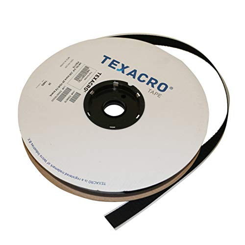 Velcro USA Hook 70/BLK07525 70/71 TEXACRO Adhesive-Backed Hook-Side Only: 3/4 x 75 ft, Black