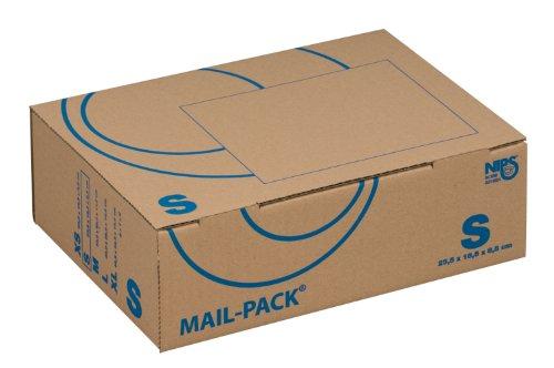 Nips 141311162 MAIL-PACK® - Scatole di cartone Basic S per spedizione (postale), 255 x 185 x 85 mm, marrone, 20 pezzi