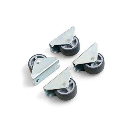 Design61 4x Kastenbockrolle Bettkastenrolle Möbelrolle Möbelrollen 30x14 mm mit weicher Lauffläche