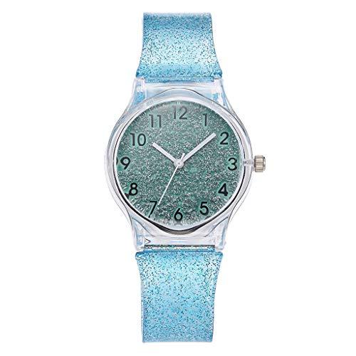 AxiBa Relógios Femininos Casuais de Silicone Pulseira de Couro Analógico Moda Feminina, Sky Blue