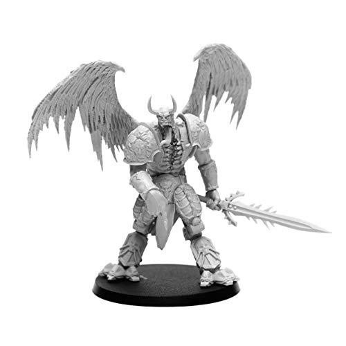 28mm Heroic Scale Wargaming Role Playing Miniature Figures AstroDemons - Unpainted Resin Miniatures for Tabletop Wargames - Demon Miniature Merak
