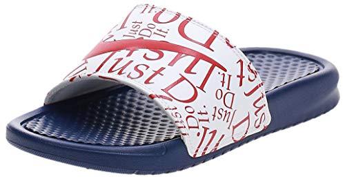 Nike Damen WMNS Benassi JDI Print Flipflop, Deep Royal Blue/University Red/White, 42 EU