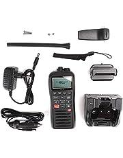 YOUTHINK Radio Marina, Impermeable Marina portátil de 2 vías VHF Radio VHF Flotante IPX7 Sistema de posicionamiento Global Incorporado Impermeable(YO)