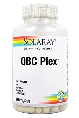 Solaray QBC Plex   Quercetin & Bromelain Plus Vitamin C   Year Round Immune Function & Respiratory Health Support   Non-GMO & Vegan   120 VegCaps