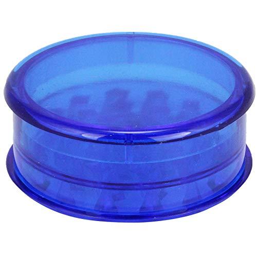 1 Stk. Grinder plastik Mühlen Kunststoff 60mm für Tabak und Herb drei Teile inklusive Lagerung. Wählen Sie Ihre Lieblingsfarbe (Blau)