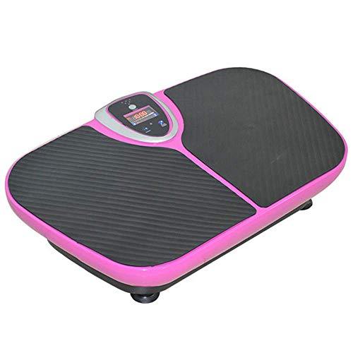 Worth having - Viberation Platform Machine, Whole Body Workout Vibration Fitness Whole Body Vibration Machine Crazy Fit Vibration Plate with Remote Control and Resistance Bands,Pink ( Color : Pink )