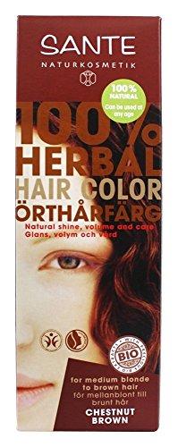 SANTE 100% Pflanzen Haarfarbe Maronenbraun,100g