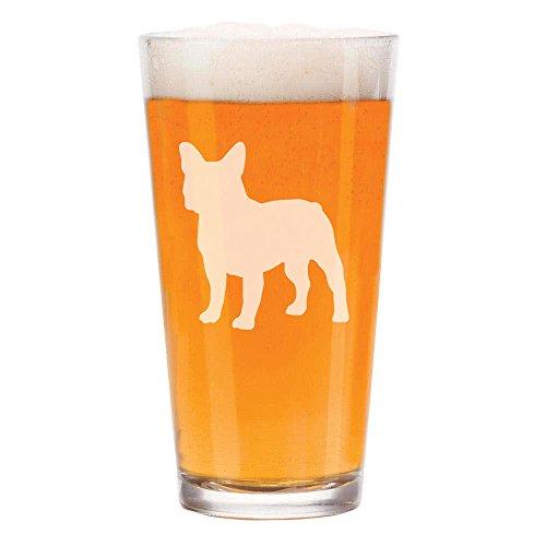 16 oz Beer Pint Glass French Bulldog