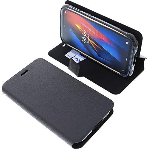 foto-kontor Tasche für Ulefone Armor X8 Book Style schwarz Schutz Hülle Buch