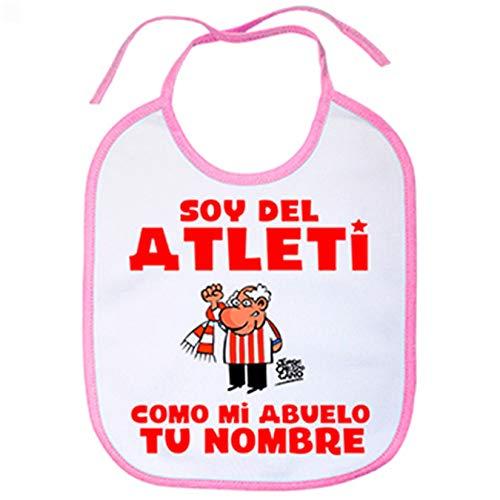 Babero soy del Atleti Atlético de Madrid como mi abuelo personalizable con nombre - Rosa
