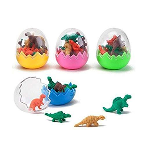 6 PCs Dinosaurier-Radier Spielzeug Eier Party-Tasche Füller bevorzugt niedlichen Dinosaurier-Ei-RadierGummi Mini Rubber