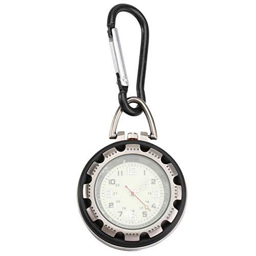 Hemobllo Clip-On Karabiner Taschenuhr langlebig leichte Taschenuhr Karabiner Uhr Backpacker Clip Uhr für Männer Bergsteiger Frauen Erwachsene