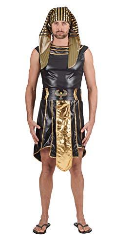 Andrea Moden 440-54/56 Disfraz de Egipto Unisex - Adulto, Oro Negro, 54/56