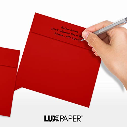 6 1/2 x 6 1/2 Square Envelopes - Holiday Red (50 Qty)   Perfect for Invitations, Announcements, Greeting Cards, Photos   8535-15-50 Photo #6