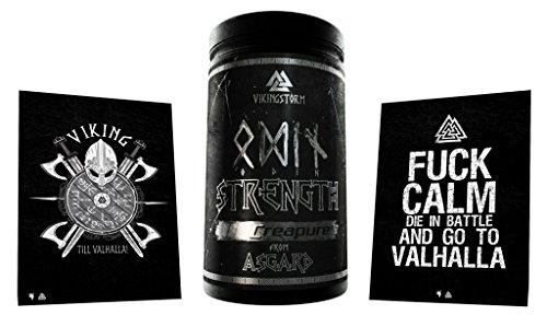 Limited Edition Gods Rage Vikingstorm Odin Stregth Creapure Creatin Reines Kreatin Monohydrat Bodybuilding Muskelaufbau inkl. Postkarte 500g