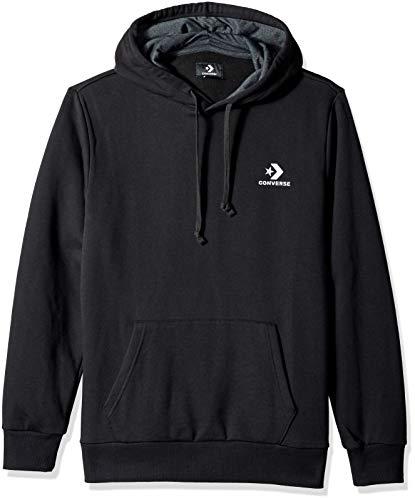 Converse Star Chevron PO Hoodie Black - Sweatshirt, Herren, schwarz (schwarz)